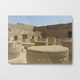 Temple of Medinet Habu, no. 2 Metal Print
