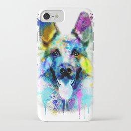 German Shepherd Watercolor, Watercolor Dog print, German Shepherd Print, German Shepherd Art iPhone Case