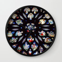 Stained glass sainte chapelle gothic Wall Clock