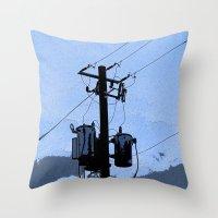 transformer Throw Pillows featuring Transformer by AMarloweCanPrint