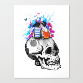 Love, hate, tragedy... Canvas Print