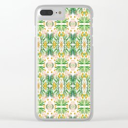 Tiki palms Clear iPhone Case