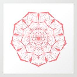 Living Coral Mandala no. 49 #society6 Art Print