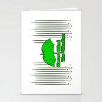 umbrella Stationery Cards featuring Umbrella by mailboxdisco