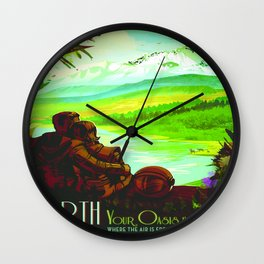 Vintage poster - Earth Wall Clock