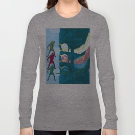 Silver Elvis of the Moon no. 2 Long Sleeve T-shirt