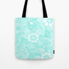 Henna Design - Aqua Tote Bag