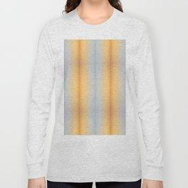 blue yellow summer stripes pattern Long Sleeve T-shirt