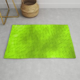Line texture of green oblique dashes with a dark intersection on a luminous charcoal. Rug