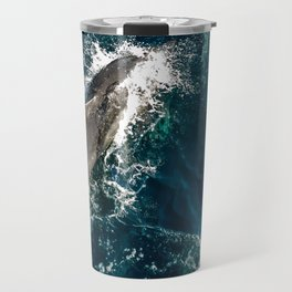 Riding the Wake: Dolphins in the Sea of Cortez Travel Mug