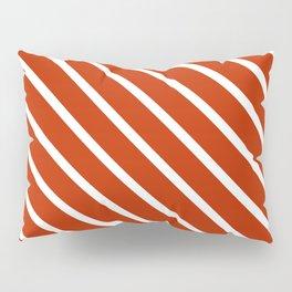 Burnt Sienna Diagonal Stripes Pillow Sham