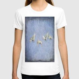 Migrating Swans Art T-shirt