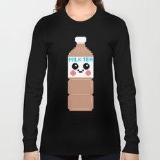 Happy Pixel Milk Tea Long Sleeve T-shirt