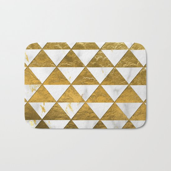 Marble and Gold Pattern #3 Bath Mat