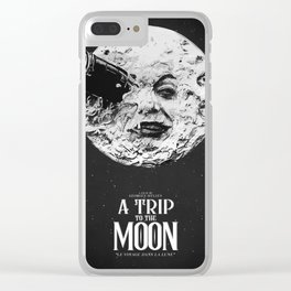 A Trip to the Moon Clear iPhone Case