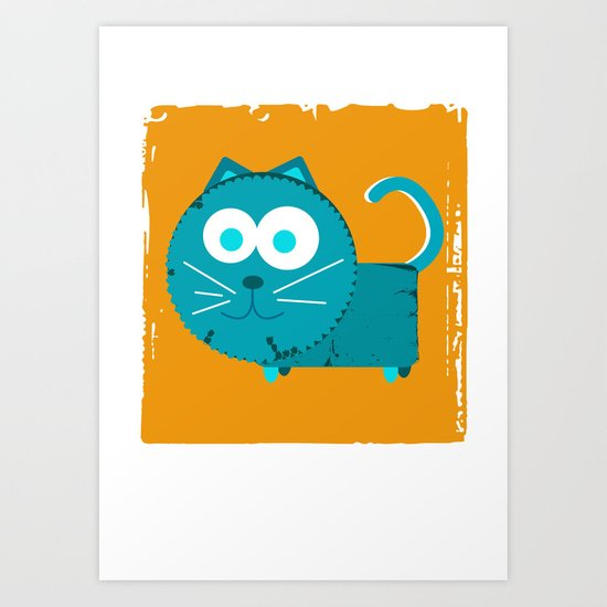 c is for cat Art Print