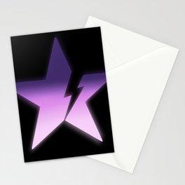 Black star bold Stationery Cards