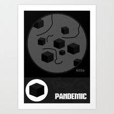 Pandemic - Black Art Print