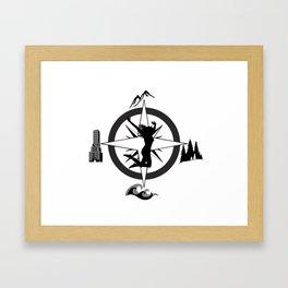 Adventure Bod - Logo Framed Art Print