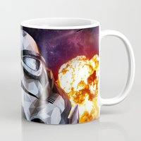 stormtrooper Mugs featuring Stormtrooper by Ruveyda & Emre