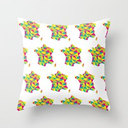 Abstract France Bright Earth Throw Pillow