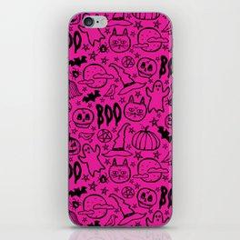 Spooky Pattern - Hot Pink iPhone Skin
