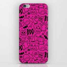 Spooky Pattern - Hot Pink iPhone Skin