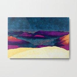 Colorful Mountains Landscape Metal Print