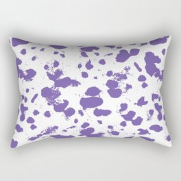 Purple splash Rectangular Pillow