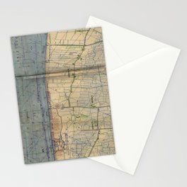 Vintage Utah Beach D-Day Invasion Map (1944) Stationery Cards