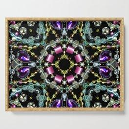 Bling Jewel Kaleidoscope Scanography Serving Tray