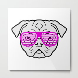 Hipster Puppy Metal Print