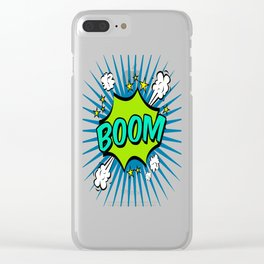 Boom Lime Boom Clear iPhone Case