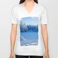 swedish V-neck T-shirts featuring Swedish Winter by Mark W
