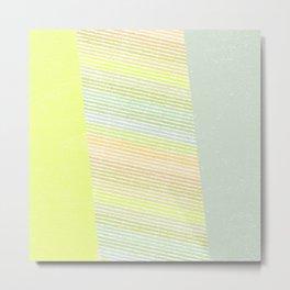 Abstract neon pastel stripes  Metal Print