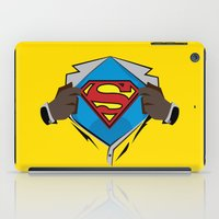dwight schrute iPad Cases featuring Superman  by Wave Sports