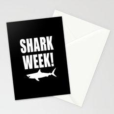 Shark week (on black) Stationery Cards