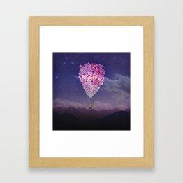 NEVER STOP EXPLORING IV PINK BALLOONS Framed Art Print
