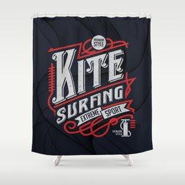 Kite Surfing Extreme Sport Shower Curtain