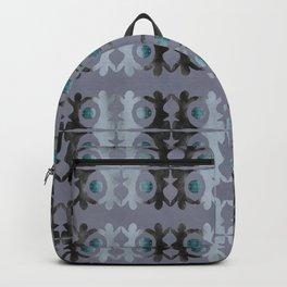 Black and Blue Yoga Spades Pattern Backpack