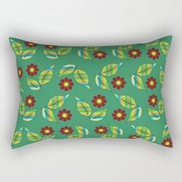 Foliage and flowers Rectangular Pillow