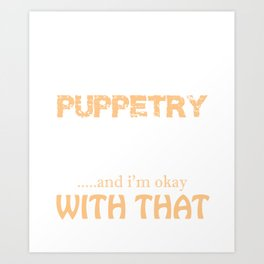 Puppetry Graphic Hand Puppet Design Print Art Print