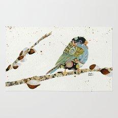 Cafe Swirly Bird 4 Rug