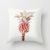 pinapple Throw Pillows featuring La Pina by InteriorEpiphanies