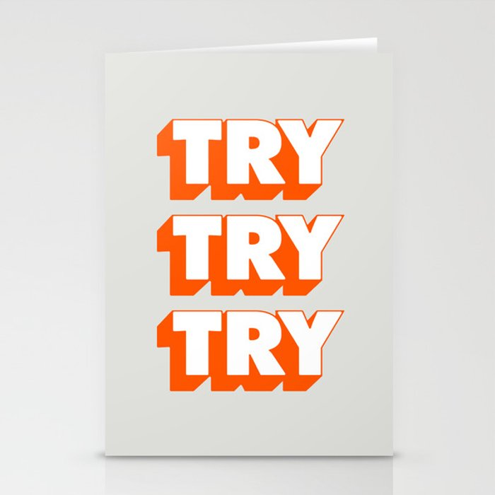 Try Try Try Stationery Cards