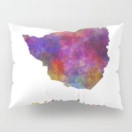 Zimbabwe in watercolor Pillow Sham