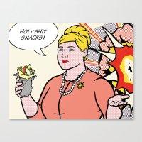 lichtenstein Canvas Prints featuring Pam Lichtenstein by turantuluy