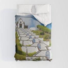 Chapel in Azores islands Comforters
