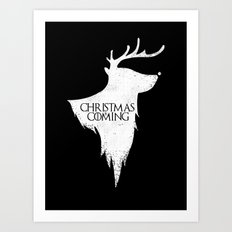 Christmas is Coming Art Print