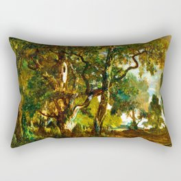Theodore Rousseau Forest of Fontainebleau Rectangular Pillow